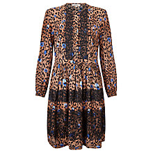Buy Somerset by Alice Temperley Leopard Print Lace Insert Dress, Multi Online at johnlewis.com