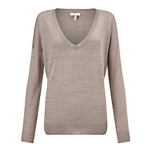 Buy Joie Calee Metallic Jumper, Heather Mushroom Online at johnlewis.com
