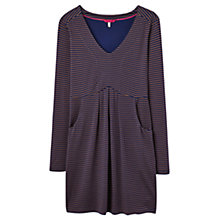 Buy Joules Lizzie Empire Line Stripe Jersey Tunic, Navy/Caramel Online at johnlewis.com