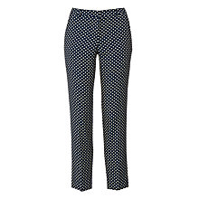 Buy Weekend MaxMara Zolfo Jacquard Spot Trousers, Navy Online at johnlewis.com
