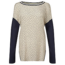 Buy Weekend by MaxMara Giudy Spot Top, Cream/Navy Online at johnlewis.com