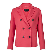 Buy Weekend MaxMara Oblato Coat, Shocking Pink Online at johnlewis.com