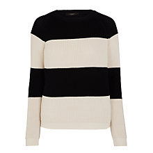 Buy Weekend MaxMara Mia Stripe Ribbed Jumper, Navy Online at johnlewis.com