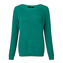 Buy Weekend by MaxMara Mia Ribbed Jumper, Turquoise Online at johnlewis.com