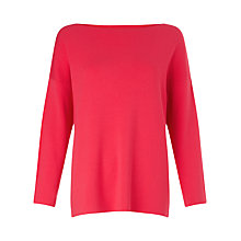 Buy Weekend MaxMara Rumena Boat Neck Jumper, Shocking Pink Online at johnlewis.com