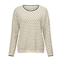 Buy Weekend by MaxMara Tempio Spot Jumper, White Online at johnlewis.com