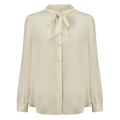 Weekend by MaxMara Atalia Pussy-Bow Blouse White £160.00 AT vintagedancer.com