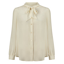 Buy Weekend MaxMara Atalia Pussy-Bow Blouse, White Online at johnlewis.com