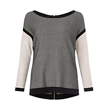 Buy Weekend MaxMara Scrivia Reversible Jacquard Jumper, Black Online at johnlewis.com