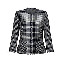 Buy Weekend by MaxMara Varallo Check Jacket, Navy/White Online at johnlewis.com