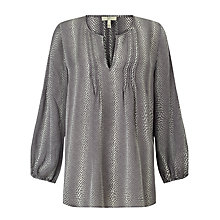Buy Joie Camael Silk Blouse, Steel Online at johnlewis.com