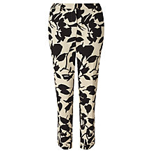Buy Weekend MaxMara Zolfo Jacquard Trousers, Black/Ecru Online at johnlewis.com