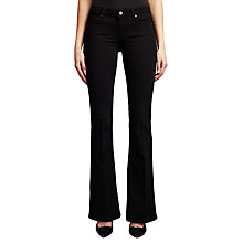 Buy Paige Skyline Bootcut Jeans, Black Shadow Online at johnlewis.com