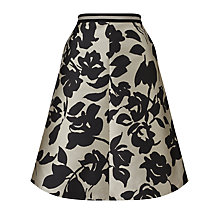 Buy Weekend by MaxMara Orafo Printed Skirt, Black/Ice Online at johnlewis.com
