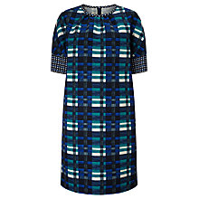 Buy Weekend by MaxMara Siro Check Dress, Turquoise Online at johnlewis.com