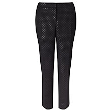 Buy Weekend MaxMara Capo Spot Trousers, Black Online at johnlewis.com