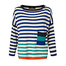 Buy Weekend MaxMara Mirte Boxy Stripe Jumper, Ultramarine Online at johnlewis.com