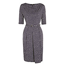 Buy Weekend by MaxMara Flo Spot Print Jersey Dress, Navy Online at johnlewis.com