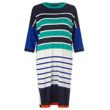 Buy Weekend MaxMara Pino Stripe Knitted Dress, Ultramarine Online at johnlewis.com
