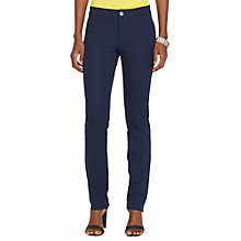 Buy Lauren Ralph Lauren Anjai Slim Trousers, Capri Navy Online at johnlewis.com