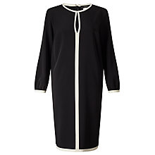 Buy Weekend by MaxMara Sahara Contrast Trim Dress, Black Online at johnlewis.com