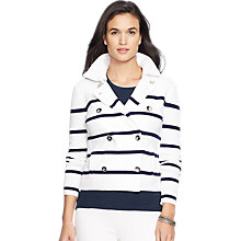 Buy Lauren Ralph Lauren Dolanie Stripe Jacket, White/Capri Navy Online at johnlewis.com