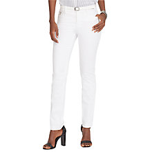 Buy Lauren Ralph Lauren Hunter Skinny Trousers, White Online at johnlewis.com