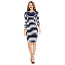 Buy Lauren Ralph Lauren Kulak Dress, Capri Navy/White Online at johnlewis.com