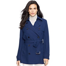 Buy Lauren Ralph Lauren Quisier Trench Coat, Capri Navy Online at johnlewis.com