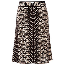 Buy Max Studio A-Line Devore Skirt, Taupe/Black Online at johnlewis.com