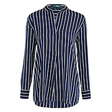 Buy Lauren Ralph Lauren Jastine Stripe Top, Navy/White Online at johnlewis.com