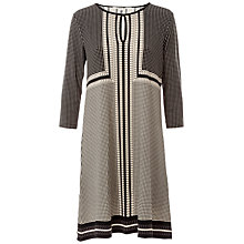 Buy Max Studio Printed Jersey Dress, Black/Beige Online at johnlewis.com