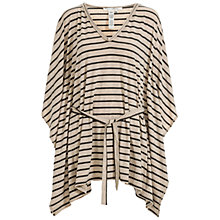 Buy Max Studio Belted Stripe Jersey Top, Heather Bone/Black Online at johnlewis.com