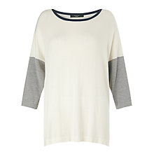 Buy Weekend MaxMara Martina Colour Block Jumper, White Online at johnlewis.com