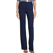 Buy Lauren Ralph Lauren Alda Flared Trousers, Capri Navy Online at johnlewis.com