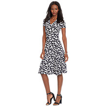 Buy Lauren Ralph Lauren Ednes Floral Print Dress, Navy/White Online at johnlewis.com