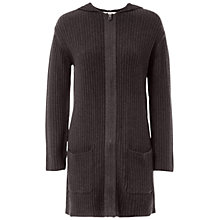 Buy Max Studio Hooded Zip-Through Cardigan, Heather Charcoal Online at johnlewis.com