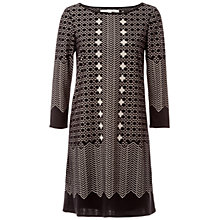 Buy Max Studio Devore Printed Dress, Black Online at johnlewis.com
