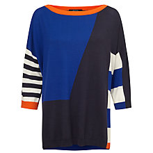 Buy Weekend MaxMara Festoso Colourblock Jumper, Navy Online at johnlewis.com
