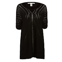 Buy Max Studio Pointelle Jumper, Black Online at johnlewis.com