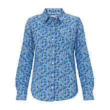 Buy John Lewis Ditsy Floral Print Shirt, Blue Online at johnlewis.com