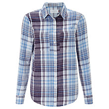 Buy Collection WEEKEND by John Lewis Double Face Check Shirt, Blue/Ivory Online at johnlewis.com