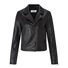 Buy Collection WEEKEND by John Lewis Leather Biker Jacket, Black Online at johnlewis.com