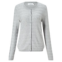 Buy John Lewis Pearl Stitch Cotton Crew Neck Cardigan Online at johnlewis.com