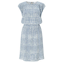 Buy Collection WEEKEND by John Lewis Brooklyn Tile Print Dress, Blue/Ivory Online at johnlewis.com
