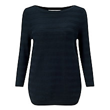 Buy John Lewis Pearl Stitch Cotton Boat Neck Jumper Online at johnlewis.com