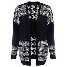 Buy Collection WEEKEND by John Lewis Arrow Drop Shoulder Cardigan, Black/Ivory Online at johnlewis.com