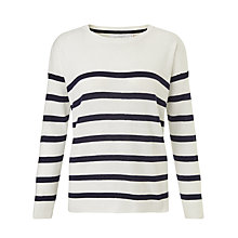 Buy Collection WEEKEND by John Lewis Breton Stripe Jumper, Ivory/Navy Online at johnlewis.com