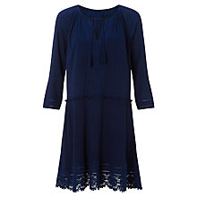 Buy Collection WEEKEND by John Lewis Lace Trim Dress, Navy Online at johnlewis.com