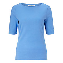 Buy John Lewis Boat Neck Half Sleeve T-Shirt Online at johnlewis.com